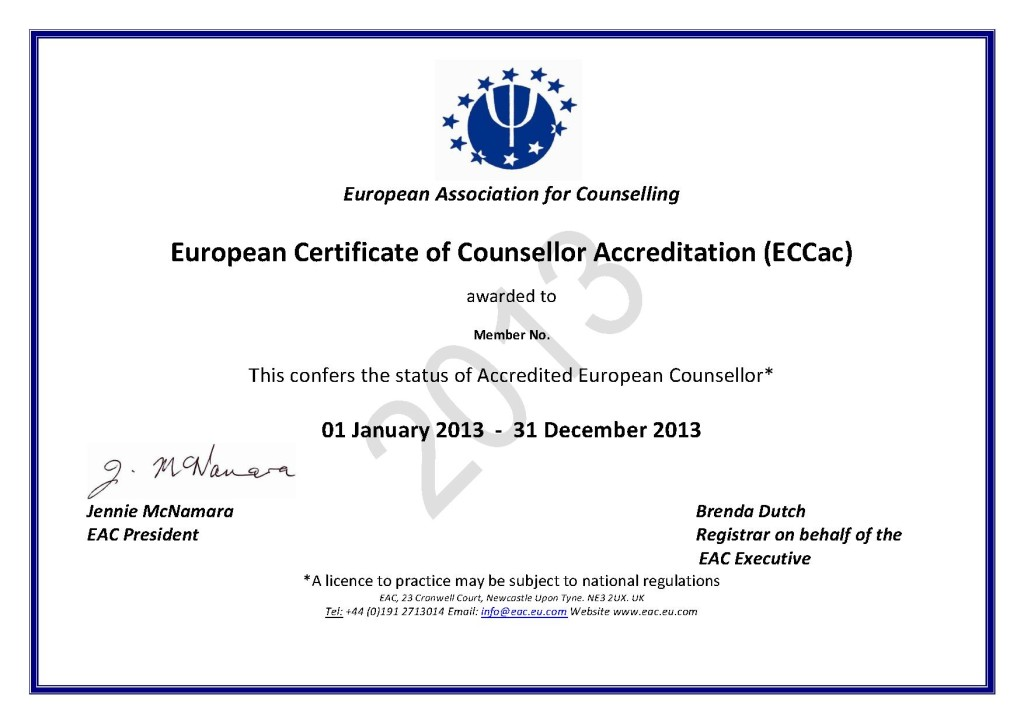 European Certificate of Counsellor Accreditation